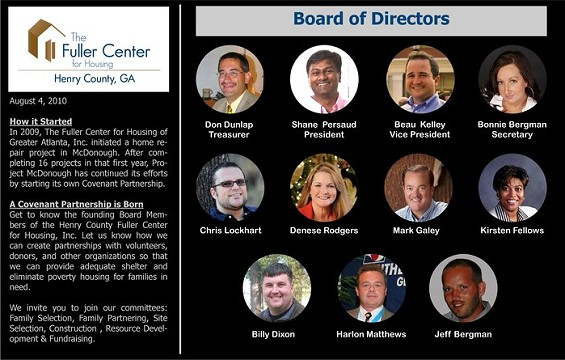 Fuller Center of Henry County Board of Directors