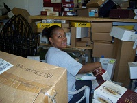 Jasmine Owens volunteers at the LifeCycle Building Center