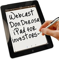 Webcast on Using the iPad with Don DeRosa
