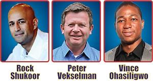 Rock Shukoor, Peter Vekselman & Vince Ohasiligwo