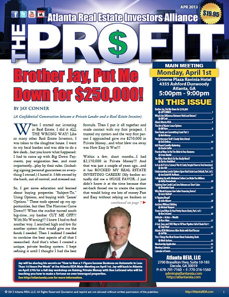 The Profit Newsletter - April 2013