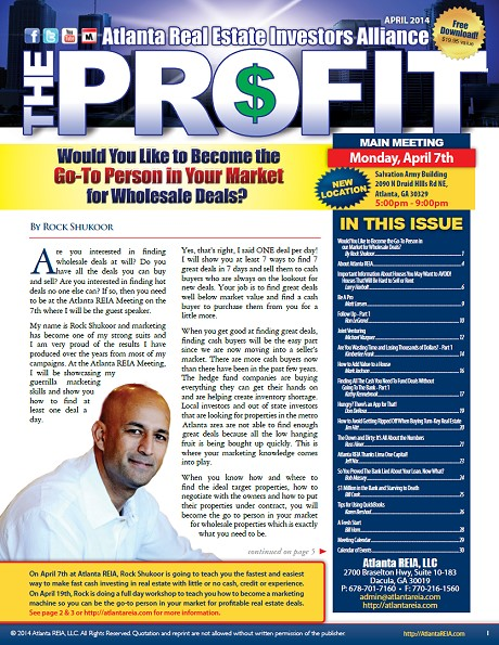 The Profit Newsletter - April 2014