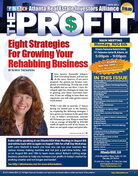 The Profit Newsletter - August 2012