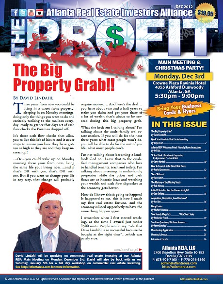 The Profit Newsletter - December 2012