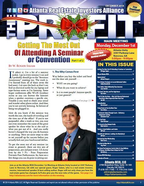The Profit Newsletter - December 2014
