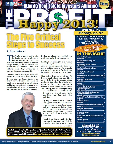 The Profit Newsletter - January 2013