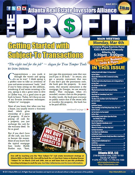 The Profit Newsletter - March 2013