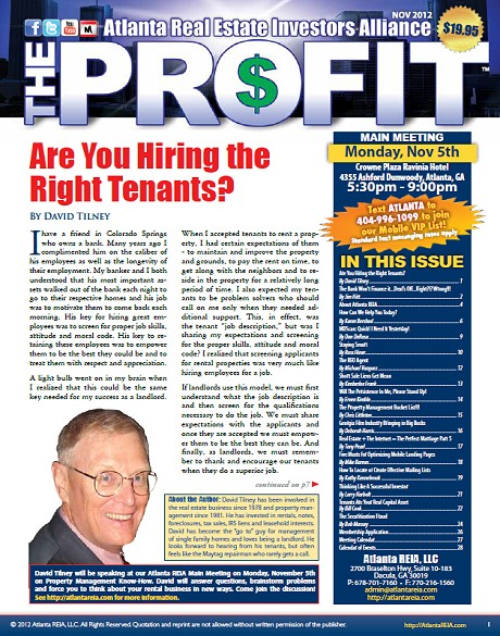 The Profit Newsletter - November 2012