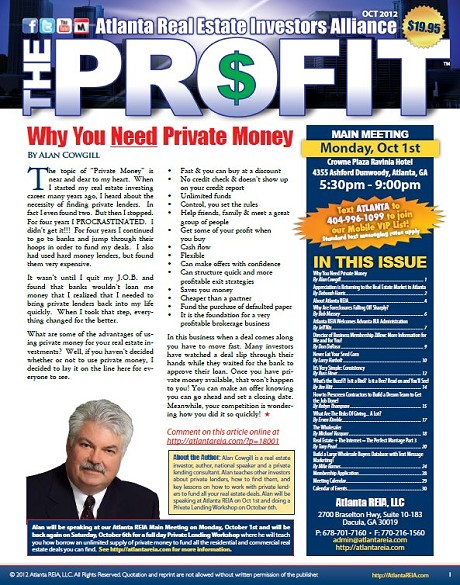 The Profit Newsletter - October 2012