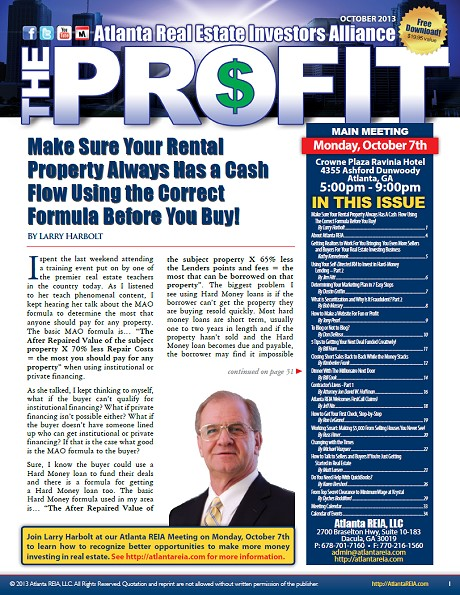 The Profit Newsletter - October 2013