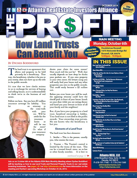 The Profit Newsletter - October 2014