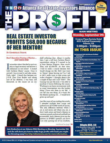 The Profit Newsletter - September 2013