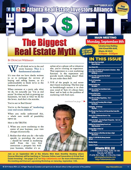 The Profit Newsletter - September 2014