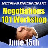 Negotiations Workshop